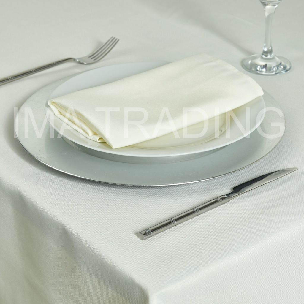 Ivory Round Table Cloth 275cm 108 Round 5 Table